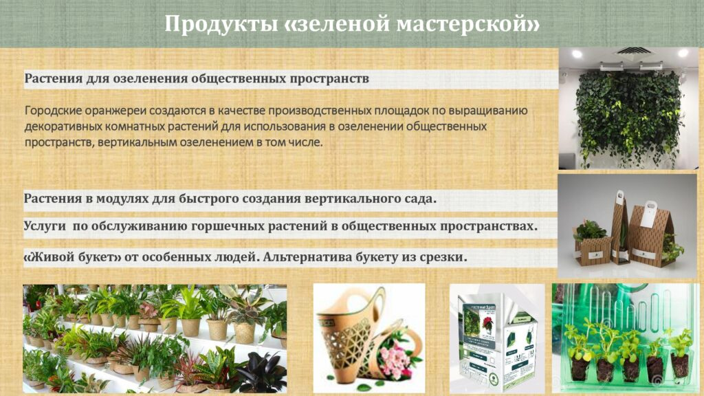 Зеленая мастерская